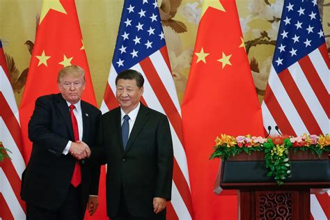 donald trump visit china in beijing trump stops short of castigating xi for trade