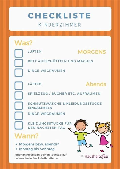checkliste fur kinderzimmer 414 best checklisten f 252 r den haushalt images on