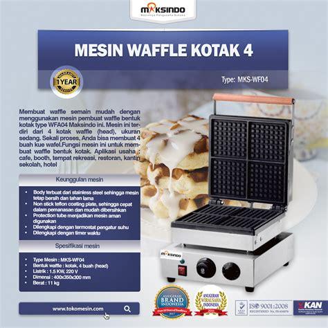 Mesin Waffle mesin waffle kotak 4 wf04 maksindo jakarta maksindo