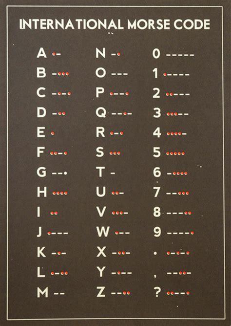Morse Code Table by Schematic Morse Code Practice Morse Code Table Elsavadorla