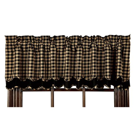 Black And Valance Black Check Layered Valance By Nancy S Nook The Patch