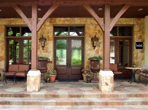 texas hill country porch hill country style homes