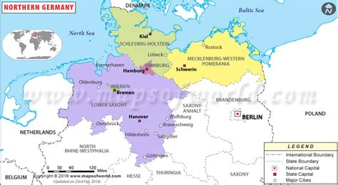 map northern germany northern germany map germany