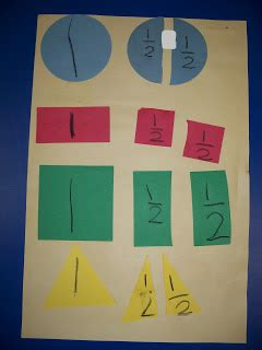 Paper Folding Fractions - kinder friendly fractions and graphing