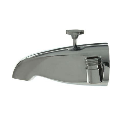 bathtub faucet with shower connection danco 5 in tub spout with shower connection in polished