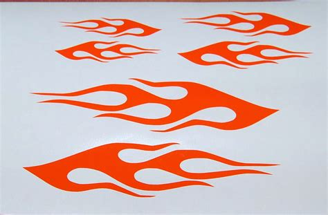 Fahrrad Aufkleber Flammen by Vinyl Decals Bike Helmet Stickers Set Of 3 New Ebay