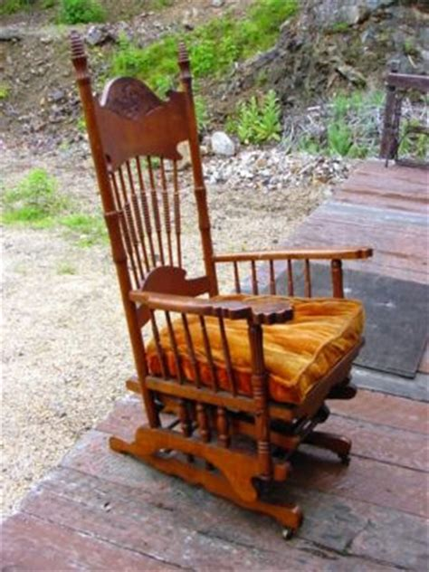 antique glider swing mint victorian oak glider swing platform rocker in nh