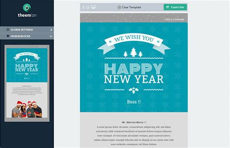 20 Wonderful Christmas New Year Email Templates Web Graphic Design Bashooka Mailchimp New Year Template