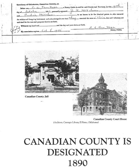 Canadian County Oklahoma Court Records Mitchem Cox Families Submitted B