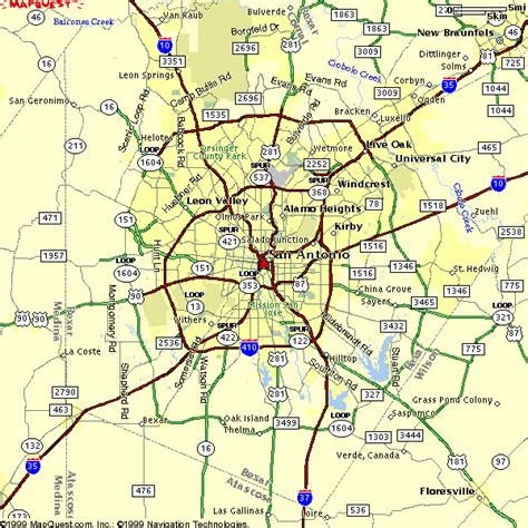map of san antonio texas area san antonio metro map travelsfinders