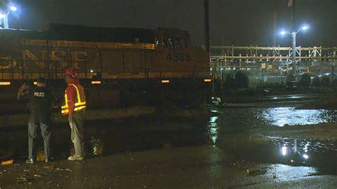 night section water main break floods railroad tracks in seattle s sodo