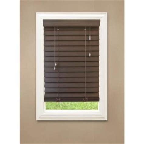Blinds Home Depot by Espresso 2 1 2 In Premium Faux Wood Blind 72 In Length