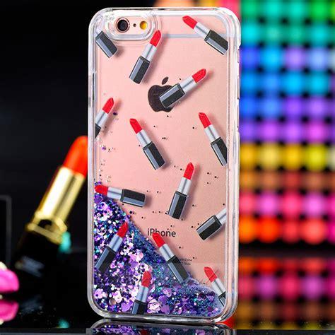 kawaii themes for iphone 6 plus cute dynamic lipstick quicksand liquid glitter case cover
