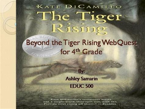 the tiger rising book report beyond the tiger rising authorstream