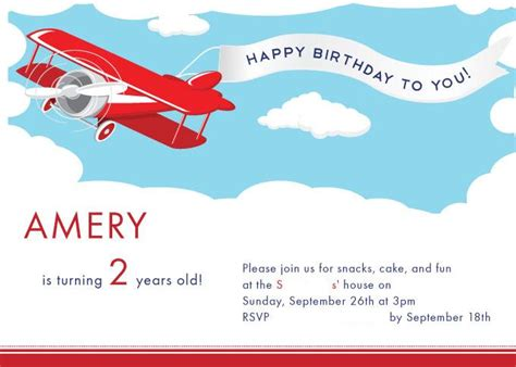 Airplane Birthday Invitations Template Best Template Collection Airplane Birthday Invitation Template