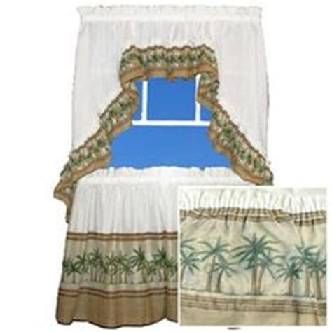 palm tree kitchen curtains tiers and swags palm tree