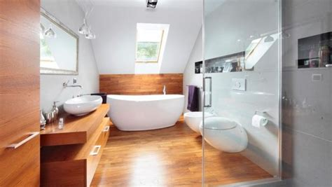 Hardwood Dining Room Furniture by Wooden Floor In 20 Natural Bathroom Designs Rilane
