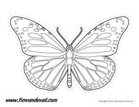 monarch butterfly template printable monarch butterfly outline tim s printables