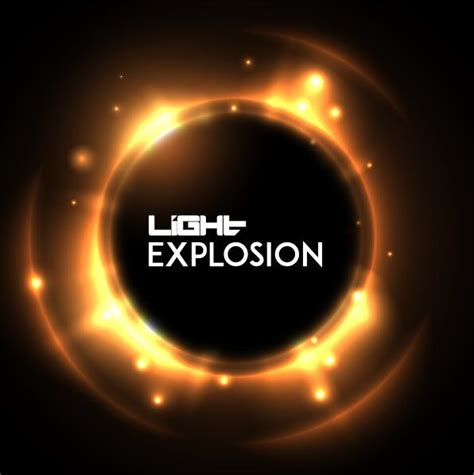 Explosion Light by Light Explosion Effect Background Vector 01 Vector