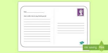 Thank You Letter Template Twinkl Ks1 Thank You Postcard Writing Template End Of The School Year