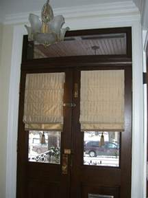 glass front door window coverings custom window treatment