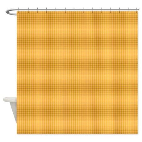 orange yellow curtains orange and yellow plaid shower curtain by kippygocontempo