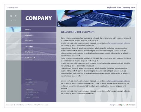 business website template 007 by colorifer on deviantart