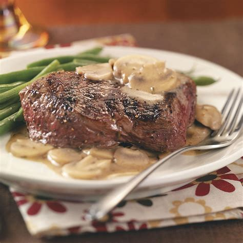 grilled steaks with sauce recipe taste of home