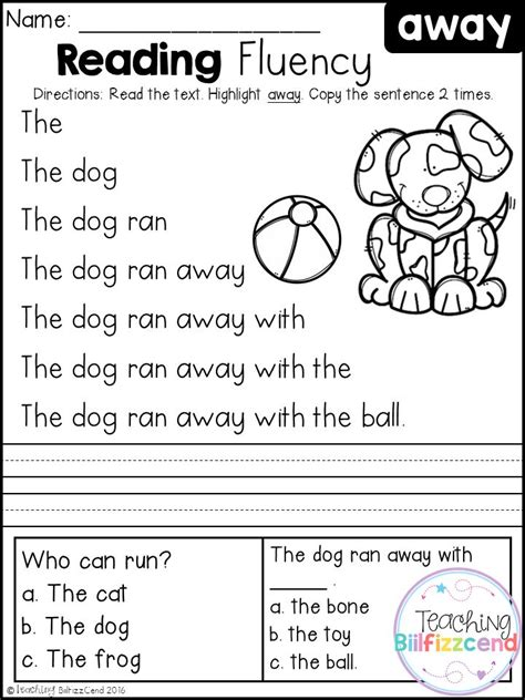 reading for free free kindergarten reading fluency and comprehension set 1