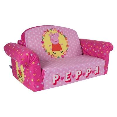 peppa pig flip out sofa chairs kids room seating furniture home target