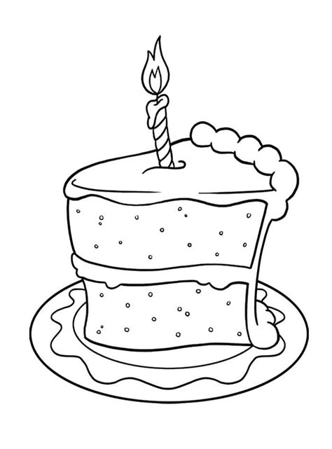 free coloring pages of birthday cake slices