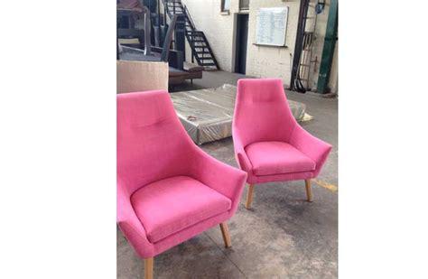 beautiful bright pink chairs