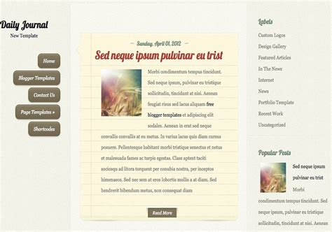 design and health journal daily journal blogger template 2014 free download