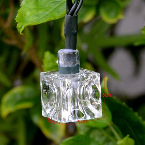 21ft 30 Led Ice Cube Warm White Solar String Lights Fairy Solar String Lights Warm White