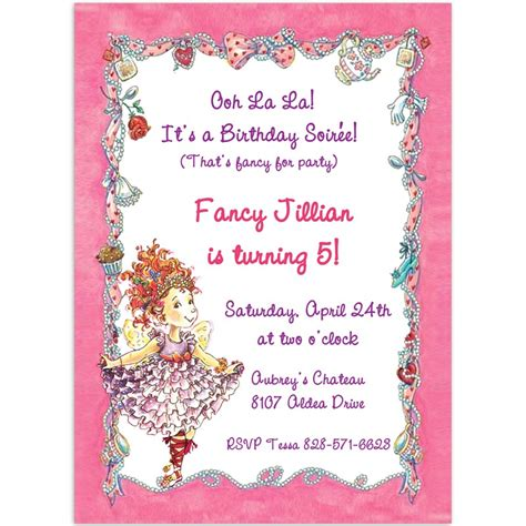 fancy invitation template fancy nancy invitation printable invitations