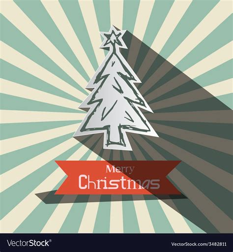 Marvelous Compare Christmas Tree Prices #6: Retro-christmas-card-with-paper-tree-vector-3482811.jpg