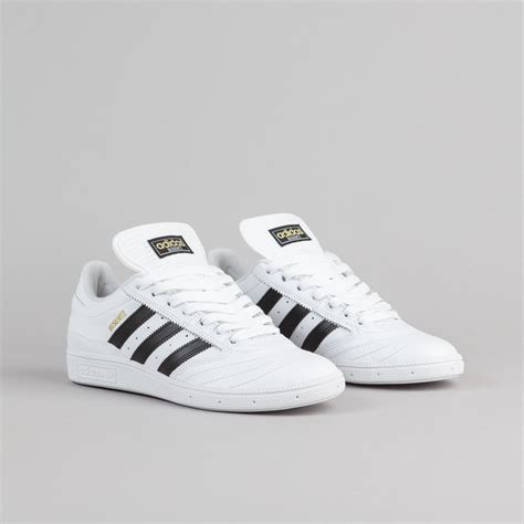 adidas busenitz shoes white black gold metallic flatspot