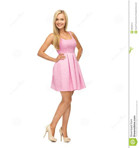 in high heels and dresses in pink dress and high heels stock images