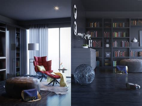 3 contemporary home library interior design ideas