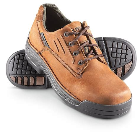 s wolverine 174 durashocks 174 steel toe oxfords brown