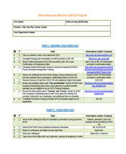 onboarding checklist template sle new employee checklist 16 free documents