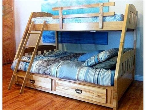 Solid Birchwood Bunk Bed Single Over Double North East Bunk Beds Calgary