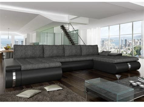 canapé d angle panoramique canap 233 d angle panoramique convertible azelma en tissu et