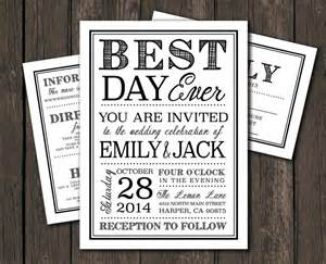 moder wedding invitation template printable diy wedding invitation best day typography