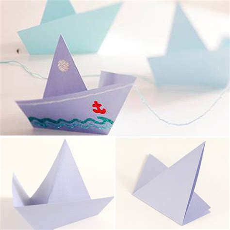 Origami Catamaran - eco friendly crafts for