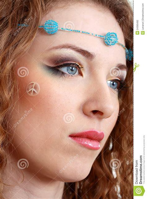 make up figli dei fiori hippy make up stock photography image 24395492