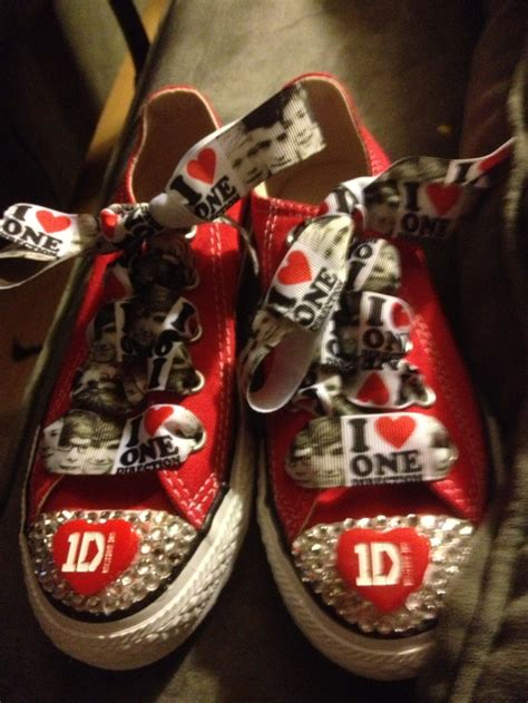 diy one direction shoes one direction blinged out converse 1d diy