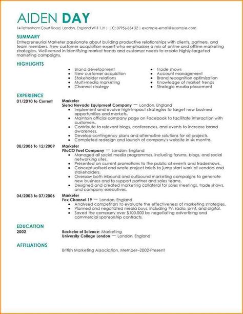 exles of resumes best resume 2017 on the web