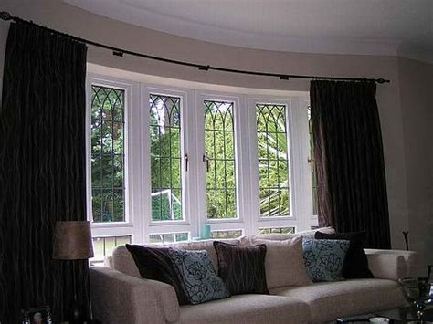 bay window curtain ideas bloombety curtains for bay window design ideas bay