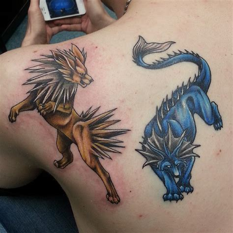 pokemon tribute tattoos by joshing88 on deviantart